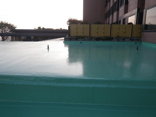 城山観光ホテル フロントバッゲージルーム屋上防水工事