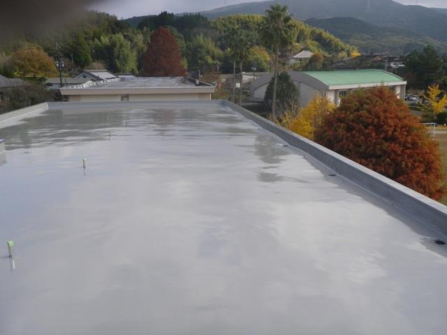 上手小学校特別教室棟屋根防水工事
