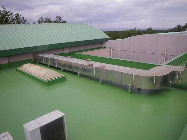 健康交流館ゆーぷる吹上プール・機械室棟屋根防水改修工事