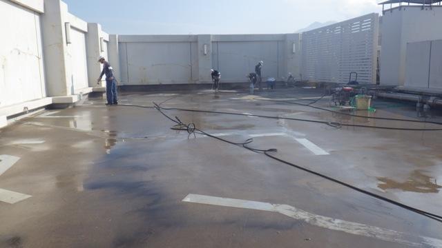 鹿児島中央署屋上防水改修工事